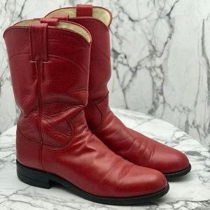 Justin L 3055 Women's Red Leather Western Boot